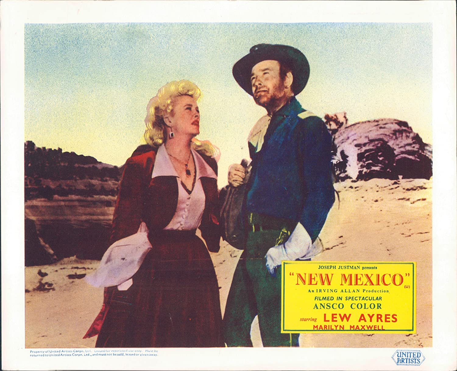 New Mexico Vintage Film Poster Starring Lew Ayres and Marilyn Maxwell