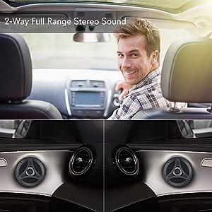 Lanzar Distinct 5.25 -In. Car Stereo Speaker Pair | 2-Way Pro Audio Component Car Speakers | 5.25 inch, 160 Watt