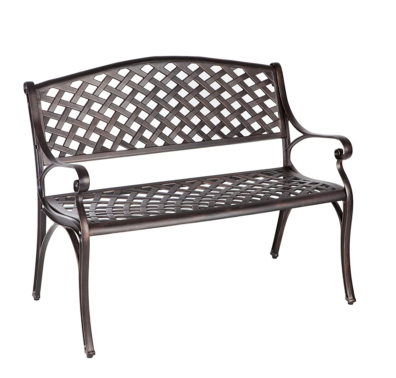Patio Sense Antique Bronze Cast Aluminum Patio Bench 0