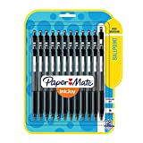 Paper Mate 1945925 InkJoy 300RT Retractable Ballpoint Pens, Medium Point, Black, 24 Count (Color: Black, Tamaño: 24-Pack)