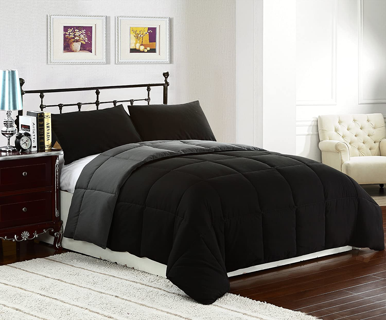 Reversible comforter sets ease bedding with style for Mens bedroom furniture sets