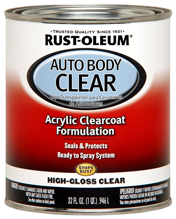 Rust-Oleum 262178 Gloss Clear Automotive Auto Body Clear Coat - 32 oz