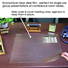 """Artistic Office Products 21"""" x 25.5"""" Second Sight II Plastic Desk Protector Film , Clear"""