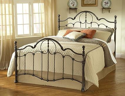 Hillsdale Furniture 1480BQR Venetian Bed Set with Rails, Queen, Old Bronze