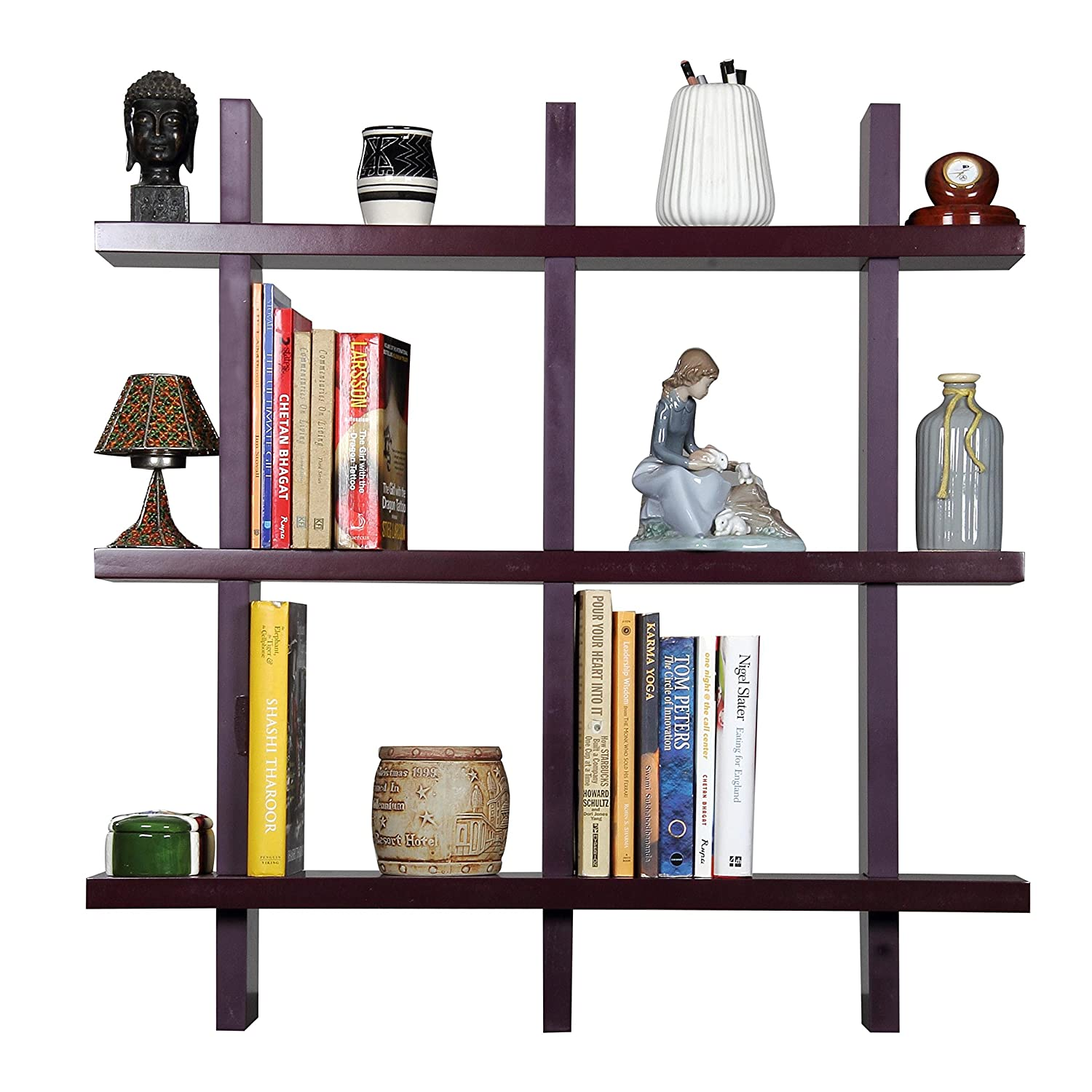 Forzza Linda Lacquered Shelf (Brown) By Amazon @ Rs.1,299