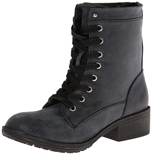 Madden Girl Women's Mistley Combat Boot,Black,6 M US