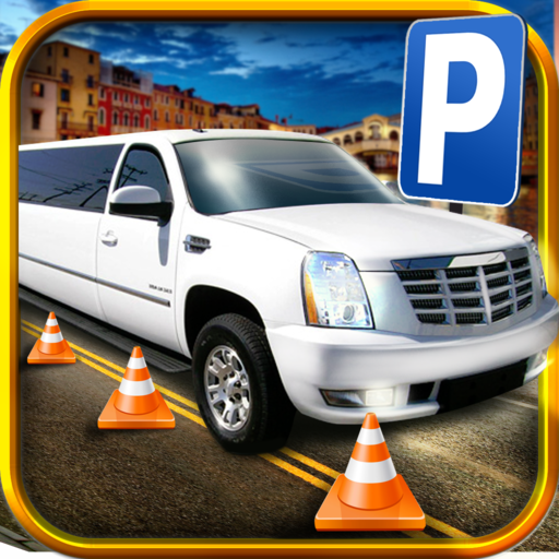 3D Limo Parking Simulator - Real Limousine And Monster Car Driving Test Racing Games Free