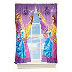 Disney Grand Princesses Drapes 82 by 63-Inch