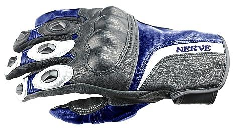 NERVE 31140302_01  KQ11 Gants Moto, Noir-Bleu, Taille XS/7