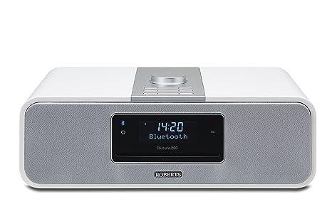 Roberts Radio BluTune 200 Système audio DAB+ avec Bluetooth/ lecteur CD/fonction enregistrement/connexion SD/USB  - Blanc