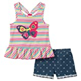 Kids Headquarters Girls' Toddler 2 Pieces Shorts Set, Assorted, 4T