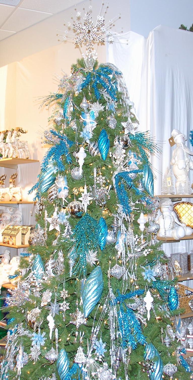 9' Custom Christmas Tree Decorating Kit (Blue Shimmer)