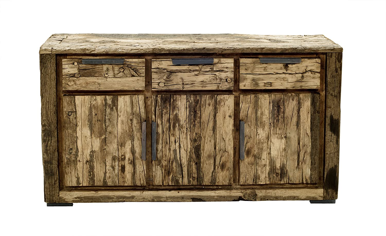 SIT-Möbel 6103-01 Sideboard Thar, recyceltes Altholz, 150 x 40 x 85 cm, braun