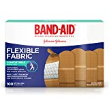 Band-Aid Brand Flexible Fabric Adhesive Bandages for Wound Care and First Aid, All One Size, 100 ct (Color: Tan, Tamaño: 100 Count)