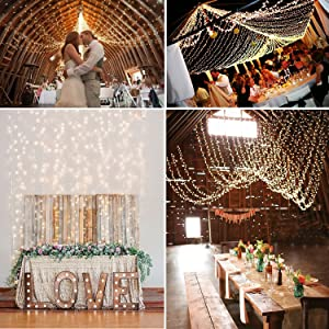 Kohree Curtain Lights, Wedding Light Remote Control Outdoor