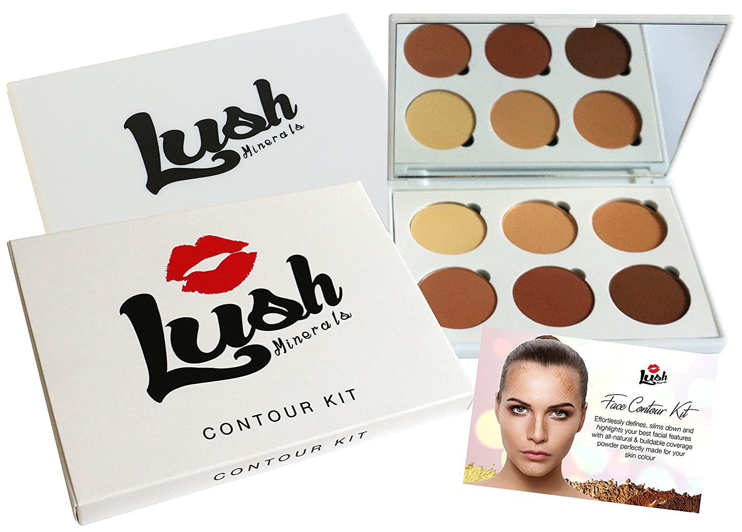 Contour Kit - Premium Makeup Kit & Contour Palette for Highlighting and Contouring All Skin Tones - Includes FREE Contouring Ebook