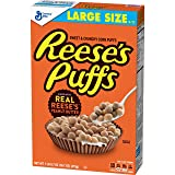 Reese's Peanut Butter Puffs, Breakfast Cereal, Large Size, 16.7 Oz