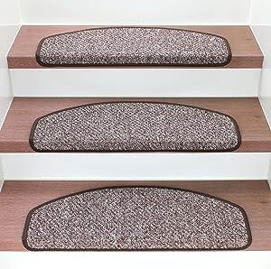 Stufenmatten Dallas 004 Braun / Beige Set 15 Stück    Überprüfung und Beschreibung