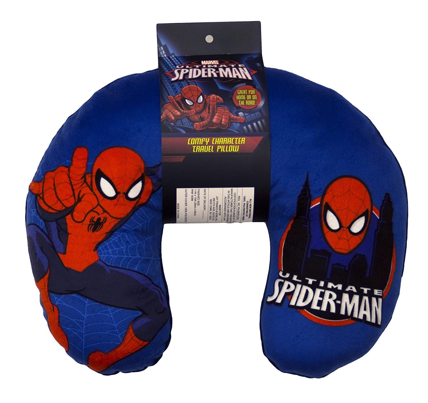 Marvel Ultimate Spiderman Travel Neck Pillow Kids Comfy ...