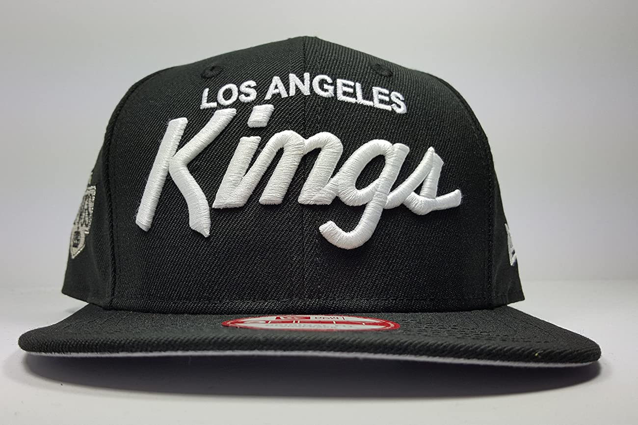 New Era Los Angeles Kings 9Fifty Black and White Vintage Script N.W.A Adjustable Snapback Hat NFL 0