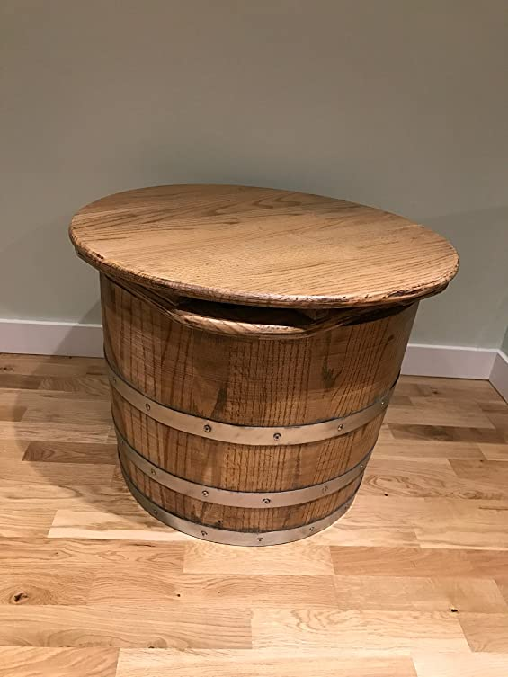 Round Oak Barrel tavolino