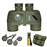 OTW Binocular Sports Military Optics Telescope 10X50 396FT/1000YDS Spotting Scope with Compass for Hunting Camping Hiking Traveling