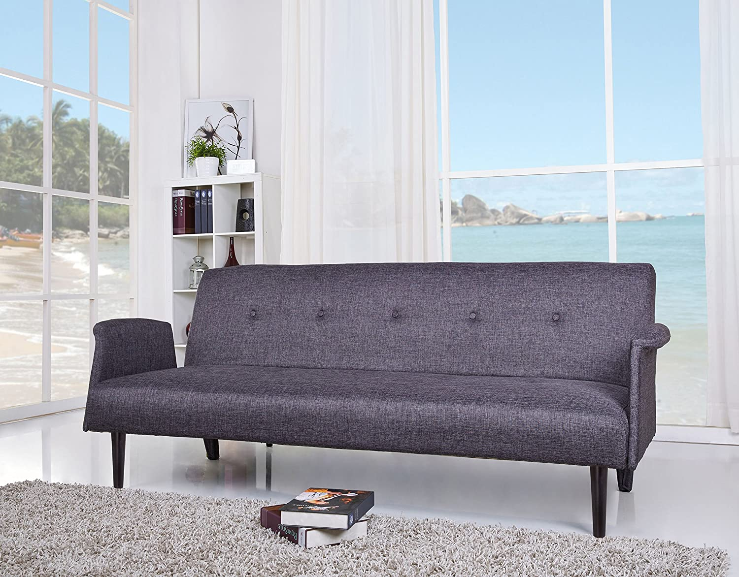 Gold Sparrow Westminster Convertible Sofa Bed - Dark Gray