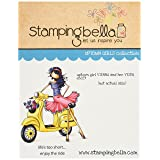 Stamping Bella Uptown Girl Vienna & Her Vespa Cling Rubber Stamp, 6.5