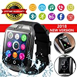Smart Watch for Android Phones, Bluetooth Smartwatch Touchscreen with Camera, Smart Watches Waterproof Smart Wrist Watch Phone Compatible with Android Samsung iOS iPhone X 8 7 6 6S 5 Plus Mens awomen (Color: Black)