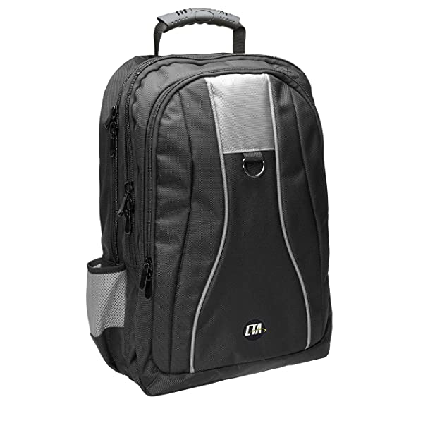 CTA Digital Universal Gaming Backpack for Xbox One X/XB1S/PlayStation 4 Slim/Wii U/XB1/PS4/XB360/PS3 (Color: Black)