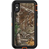 OtterBox DEFENDER SERIES Case for iPhone X/10 (Case Only - No Holster) BLAZE ORANGE/BLACK W/REALTREE XTRA CAMO (Color: REALTREE XTRA)