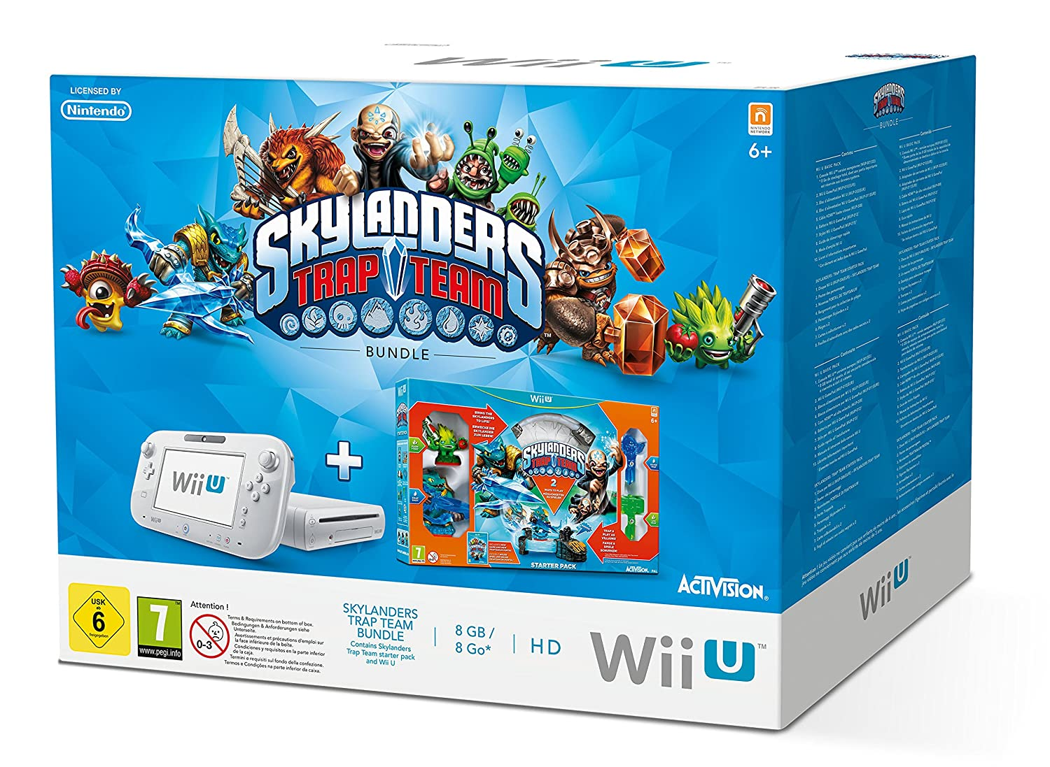 Wii U (8GB) inkl. Syklanders Trap Team