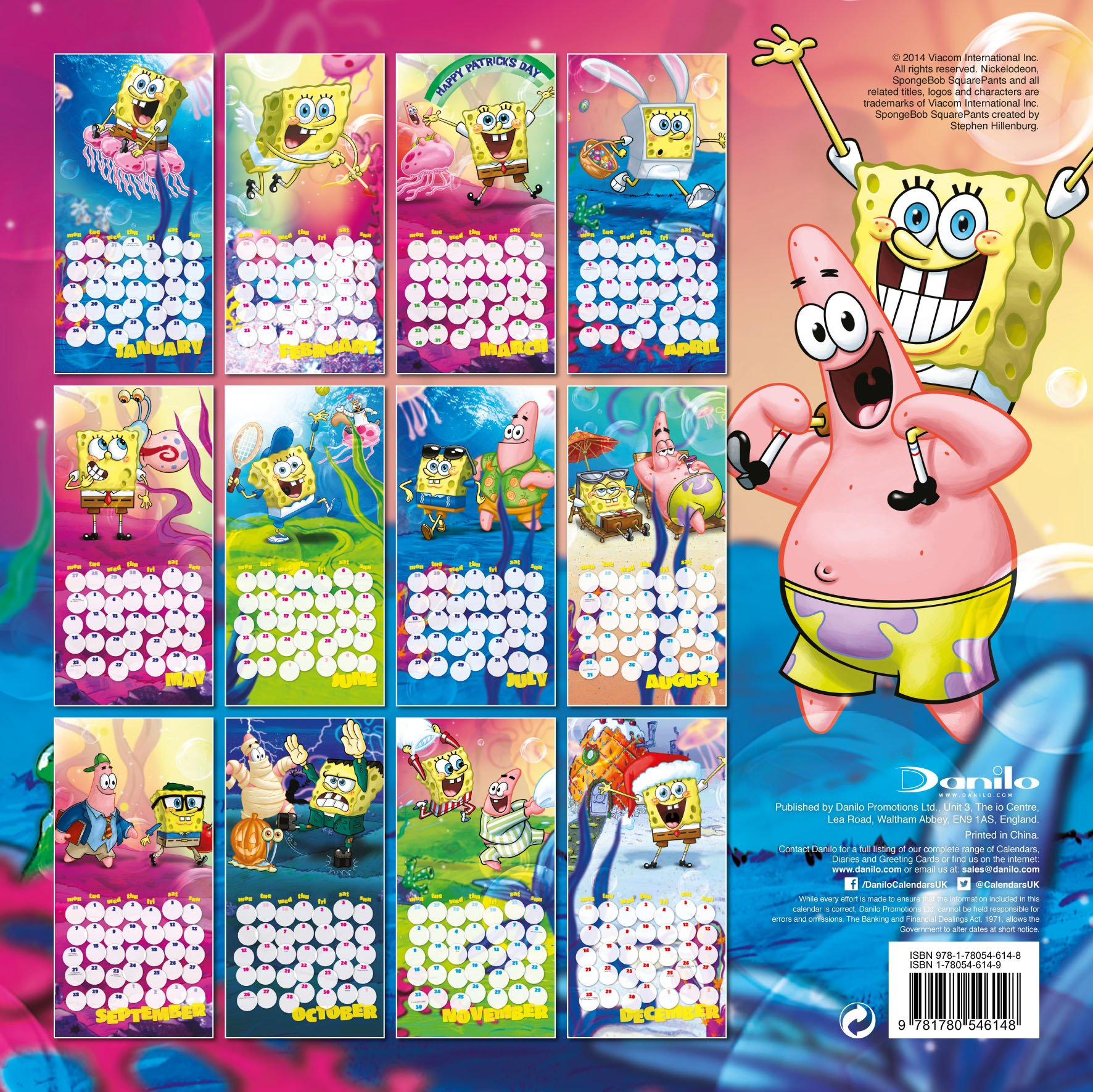 Spongebob 2015 Calendar (UK) - SpongeBob - SpongeBuddy Mania Forums ...