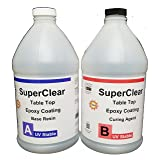 SuperClear Epoxy Table Top System - 1:1-1-Gallon kit