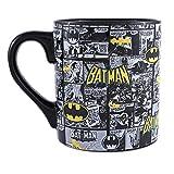 Silver Buffalo BK1034 DC Comics Batman Comic Strip Ceramic Mug, 20-Ounces (Color: Multicolor, Tamaño: 20-ounces)