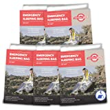 Emergency Zone Emergency Sleeping Bag, Survival Bag, 1, 5, and 12 Packs Available