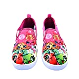 Shopkins Girls Slip-on Canvas Shoes, Size 12 (Color: Fuchsia, Tamaño: 12 M US Little Kid)
