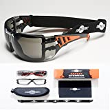 ToolFreak-Safety Glasses with Foam Padding | Protective Eyewear with Improved Vision For Men & Women | Treated to Help Reduce Fog and Scratch | Maximum UV Protection | Hard Case & Cloth ,Tinted Lens