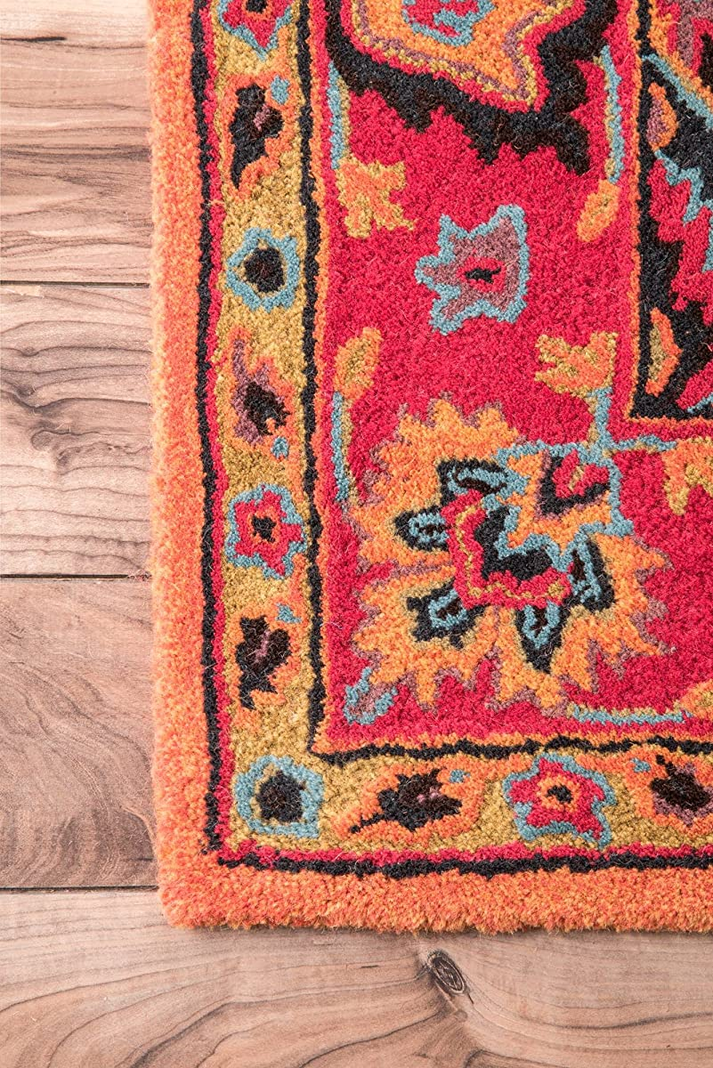 "nuLOOM Orange Hand Tufted Montesque Runner, 2 6"" x 8"