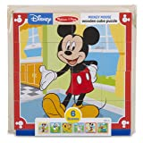 Melissa & Doug Disney Mickey Mouse Wooden Cube Puzzle