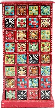 BHP B421538 India cómoda, porcelana, 30 x 58 cm, rojo