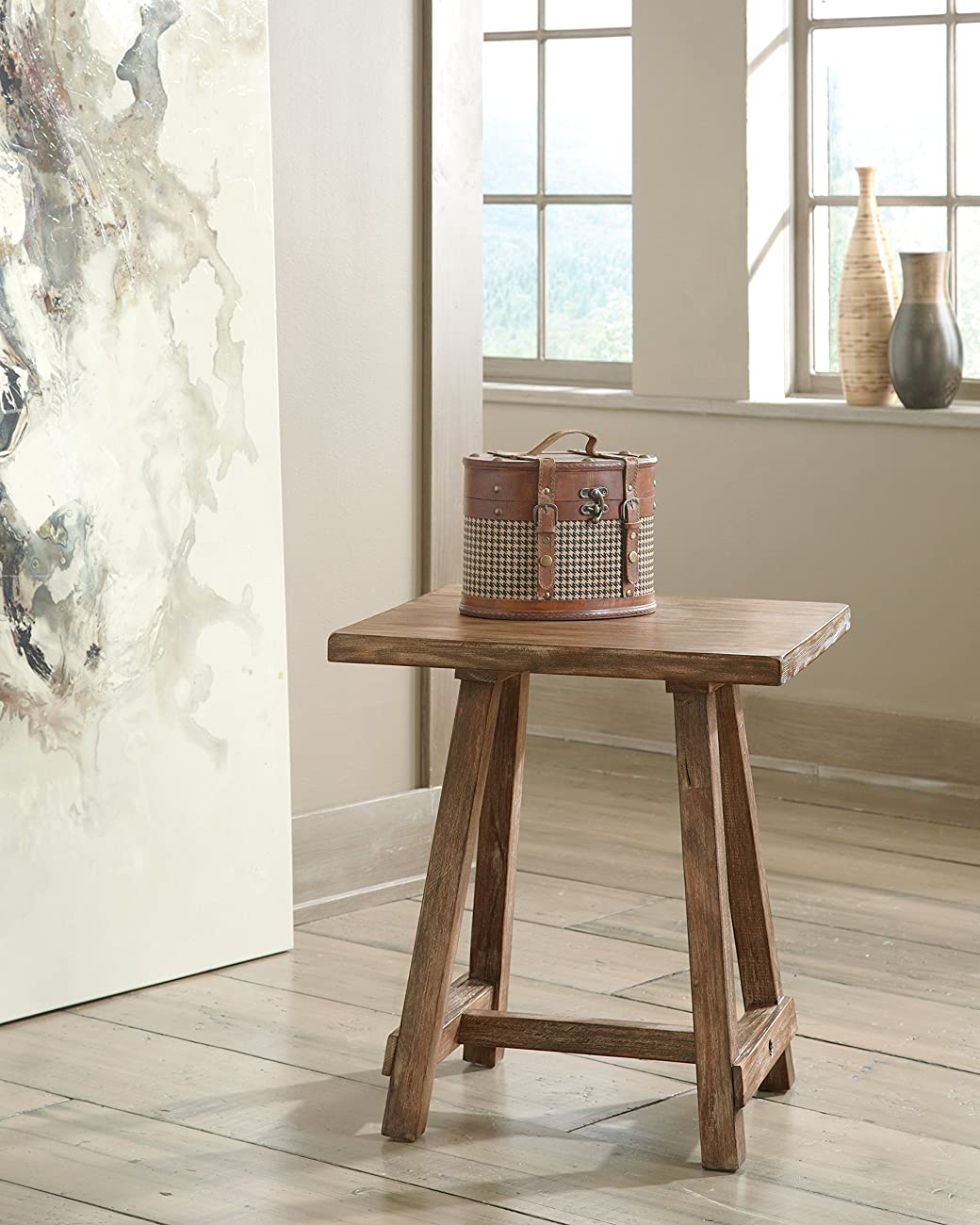 Signature Design by Ashley T500-502 Rustic Accent Side End Table 1