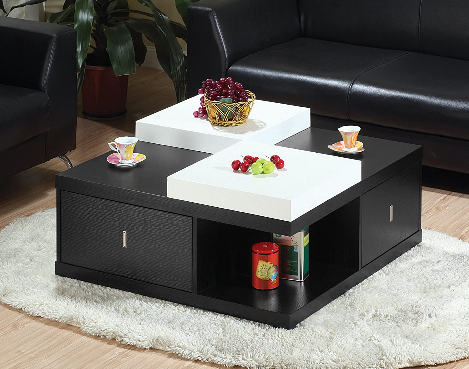 Morgan Square Coffee Table with Serving Tray