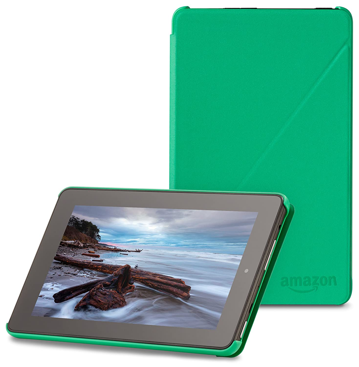 "Amazon Fire 7"" (2015 release) Case - Slim Lightweight Standing Custom Fit Cover for Amazon Fire 7 Inch Tablet, Green"