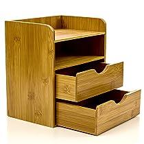 Bamboo 4 Tier Mini Desk Organizer