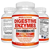 Digestive Enzymes with Probiotics - MULTI ENZYME Nutritional Supplement - Acidophilus Bromelain Papaya Papain Lipase & Lactase - Improve Digestion - 120 Pills - Arazo Nutrition