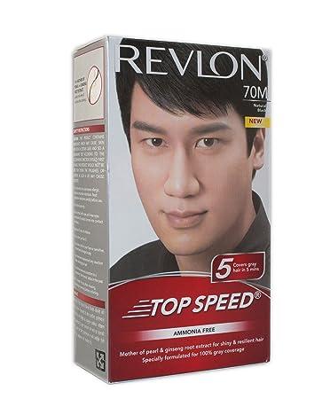Buy Revlon Top Speed Hair Color Man, Natural Black 70, 100 g ...