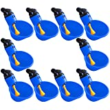 (10) RITE FARM PRODUCTS AUTOMATIC WATERER DRINKER CUPS CHICKEN POULTRY TURKEY DRINK (Color: Blue)