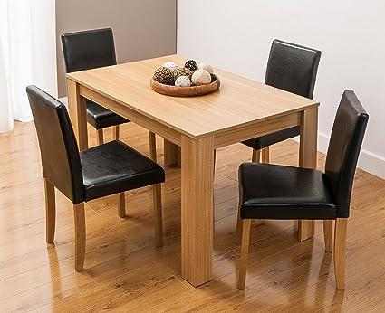 Tisch-Abendessen und 4Stuhle Möbel Holz und Kunstleder