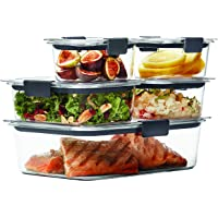 10-Piece Rubbermaid Brilliance 100% Leak Proof BPA-free Plastic Food Storage Container Set